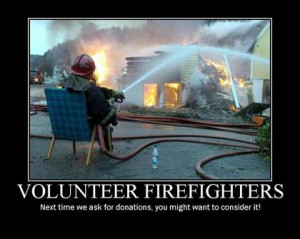 Members in charge of motivational activities, a firefighter , parades ...