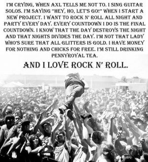 Tags: songs quotes i love rock n' roll