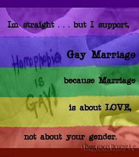 Straight but I support Gay Marriage Image