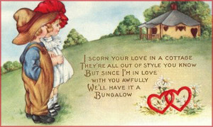 ... Valentines Cards in Vintage Style with Cute Love Poems for Valentines