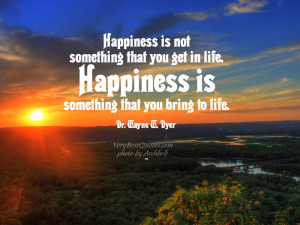 Happiness is not something that you get in life… Happiness Quotes