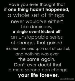 Change..very thought provoking