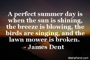 summer-A perfect summer day is when the sun is shining, the breeze is ...