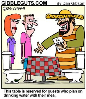 Mexican Restaurant Cartoon