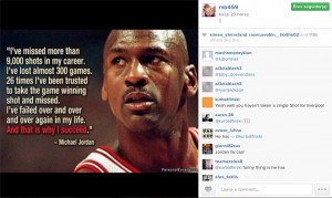 Mario Balotelli quote on Michael Jordan Instagram