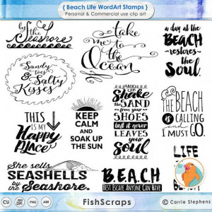 Summer Beach Life WordArt - Title Quotes for personal and commercial ...