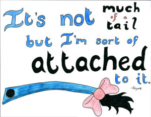 Eeyore Tail Quote -Winnie the Pooh Quote Art - Hand-drawn Illustrated ...