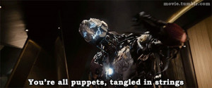 Quotes in the Avengers: Age of Ultron traliers.