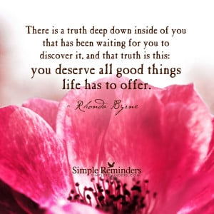 You deserve all good things by Rhonda Byrne with article by Emmanuel ...