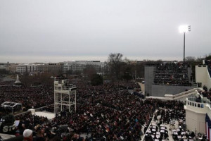 ... Obama's 2nd Inauguration speech on January 21, 2013: one million