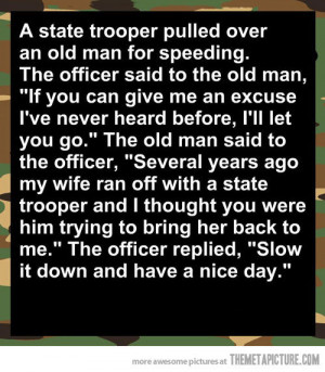 funny joke speeding police