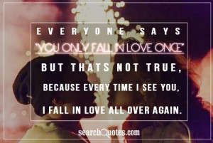 fall in love all over again being in love quote