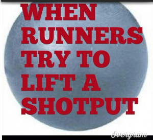 Shot put.... hahah! seriously though!