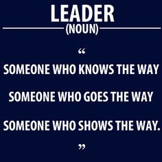 true leaders goal only nice one leader
