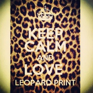 ... who knows me knows that I am overly obsessed with leopard print. Haha
