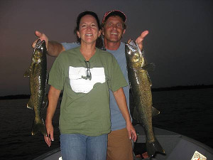 Marilyn Quayle lands trophy pike