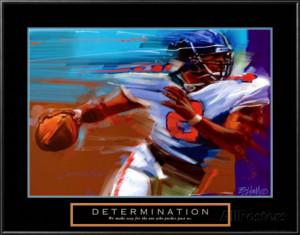 Determination: Quarterback Lamina Framed Art Print