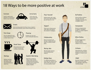 18 Ways To Be More Positive At Work [Infographic]