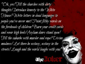 Joker Quote by jokercrazy