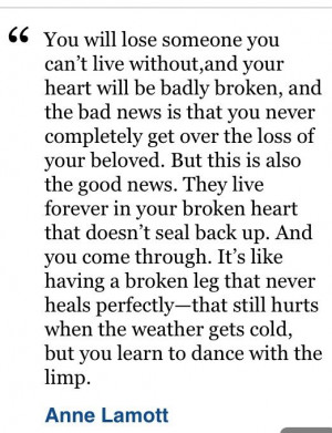 Great quote on grief!
