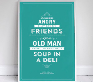 Cop This: Seinfeld Food Quote Prints on Etsy
