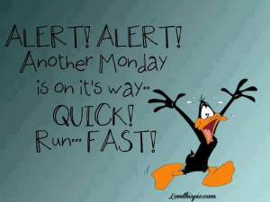 alert! funny cute funny quotes looney tunes daffy duck monday