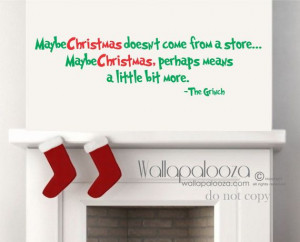 Grinch Wall Quote Christmas Wall Decal Dr by WallapaloozaDecals, $23 ...