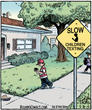 Our pal Dan Piraro has updated the ubiquitous Slow Children Playing ...