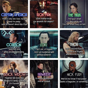 Avengers. Best character quotes