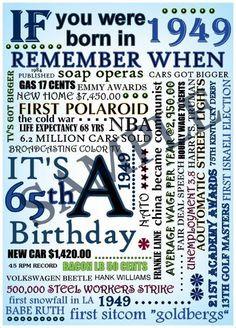... birthday party 1949 65th by binkerbows, $11.00 parti 1949, birthday