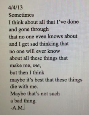 ... Quotes Demons, Long Sad Poems Depression, Sad Suicide Quotes