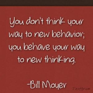 new way of thinking.