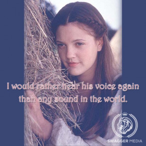 Ever After, 1998. Drew Barrymore. #film #quote
