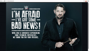... the WWE Divas Division, WWE.com Posts Humorous Pic While Site is Down