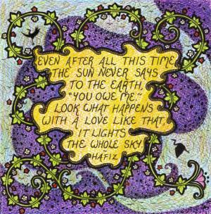 Hafiz quote- Love by Nemki