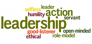 image of words about leadership - word art or wordle