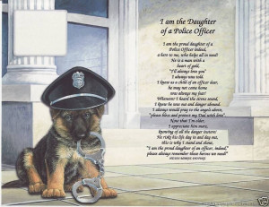 Details about POLICE OFFICER POEM PRAYER PERSONALIZED NAME ART PRINT