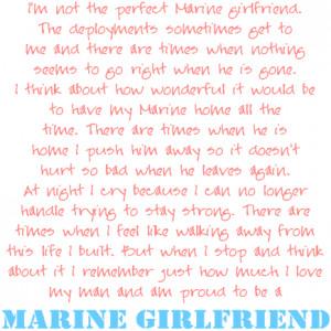 proud girlfriend marine