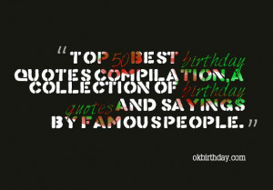 50 best birthday quotes compilation a collection of birthday quotes ...