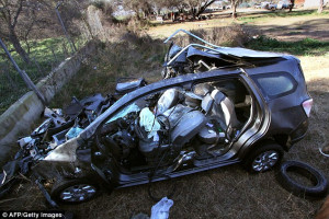 aged two and eight months, died along with their mother when the car ...