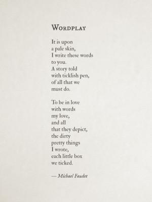 wordplay | by michael faudet