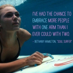 Full quote from Bethany Hamilton: Surfing isn't the most important ...