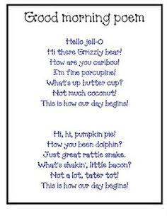 good morning poem More