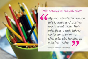 What motivates you on a daily basis?
