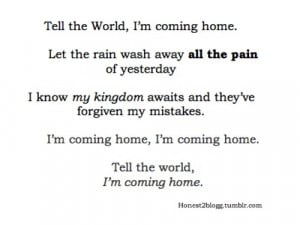coming home, lyrics, misery, pain, pdiddy, quote, rain, typography ...