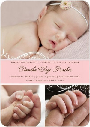 Baby Birth Announcements For Announcing New Baby