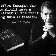 Ian McKellen: The Bible Should Have a 'Fiction' Disclaimer