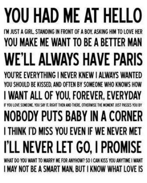 Aww corny movie love quotes