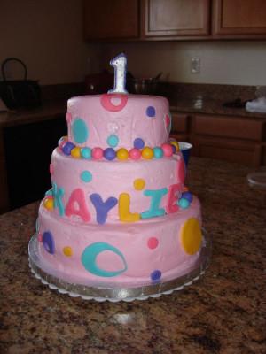 Daughter First Birthday Cake