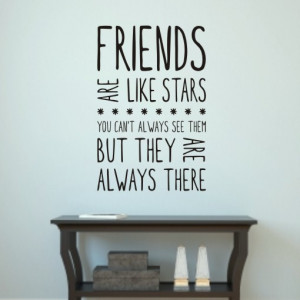 Friends are like stars wall art sticker quote H550K